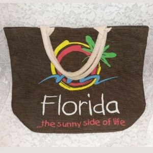 Brown Hemp Florida Tote Bag